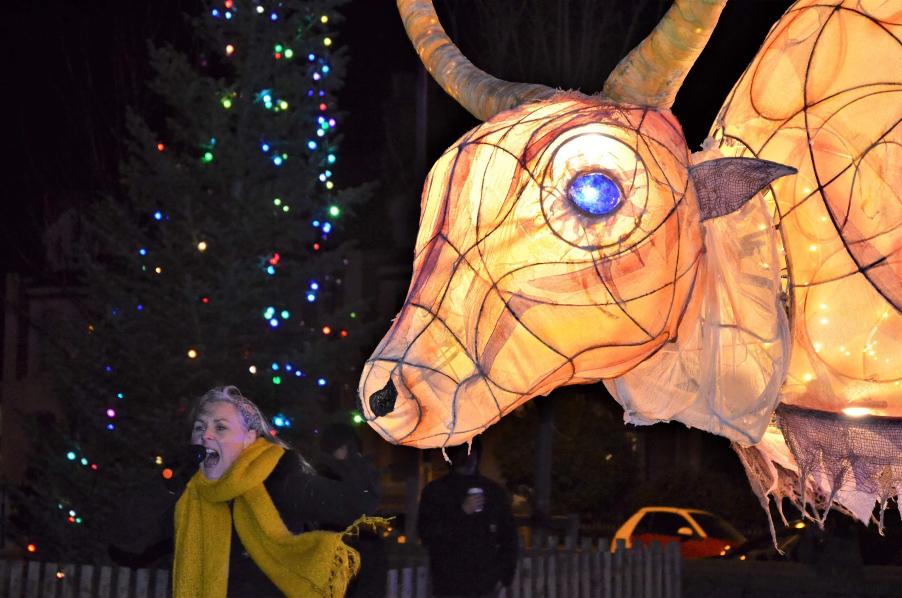 Gillian Brownson at the Lantern Parade