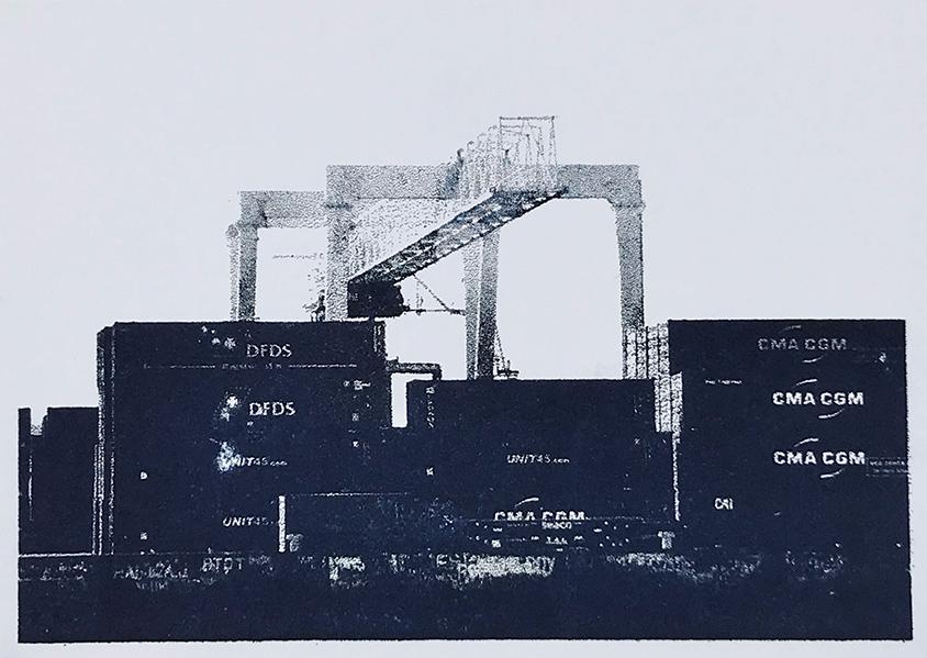 Image of Dublin port by Julie Merriman